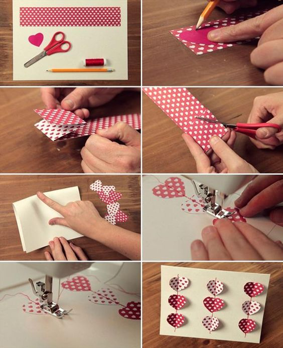 Valentine card ideas step by step instructions